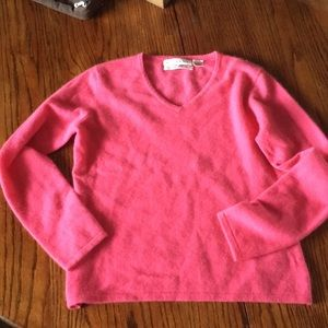 Sweaters - Pink cashmere v-neck sweater